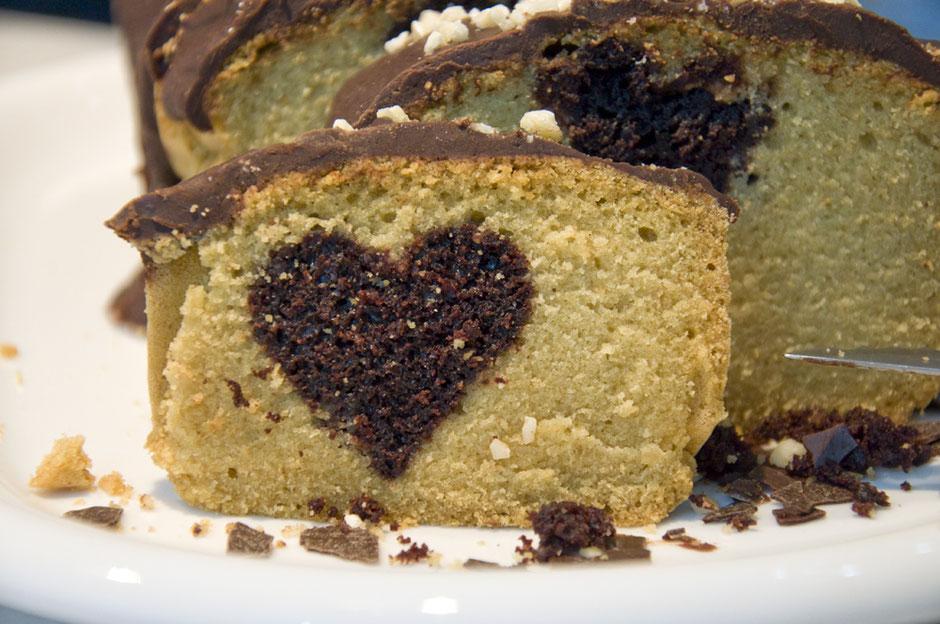 Hidden Cake Design vegan  Herzmotiv