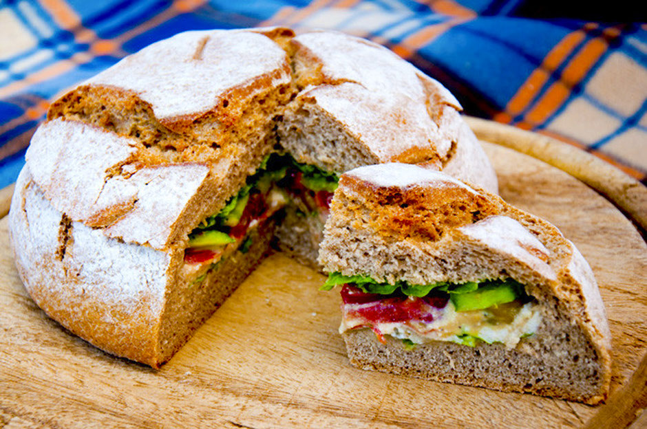 Picknickbrot Outdoorfood vegan