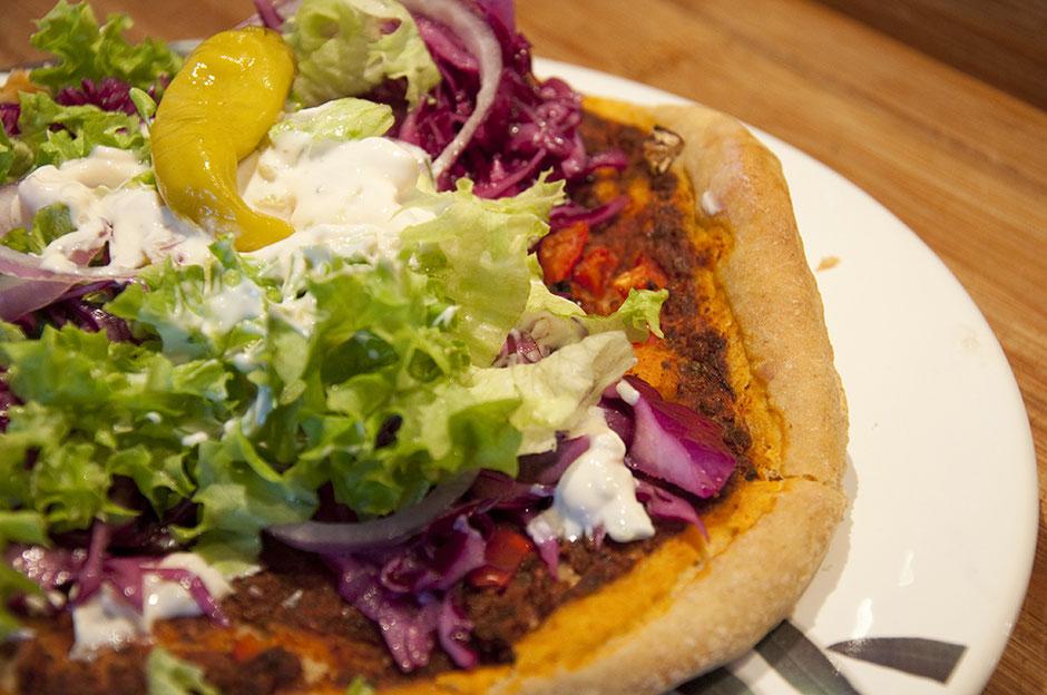 Türkische Pizza Lahmacun vegan
