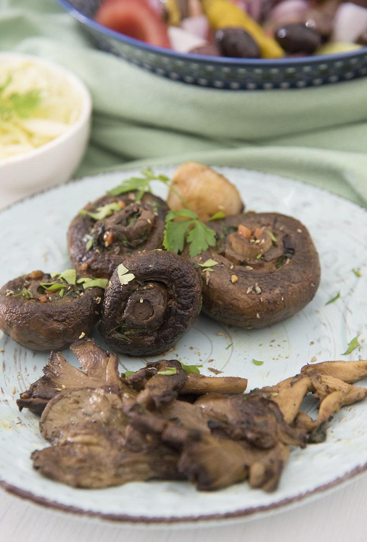 Marinierte Pilze für den Grill