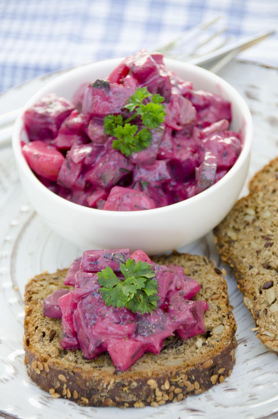 Veganer Wikinger Salat /  Veganer Heringssalat