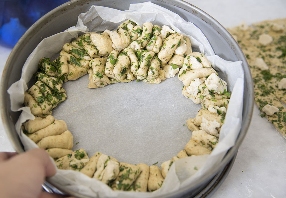 Anleitung veganes Faltenbrot