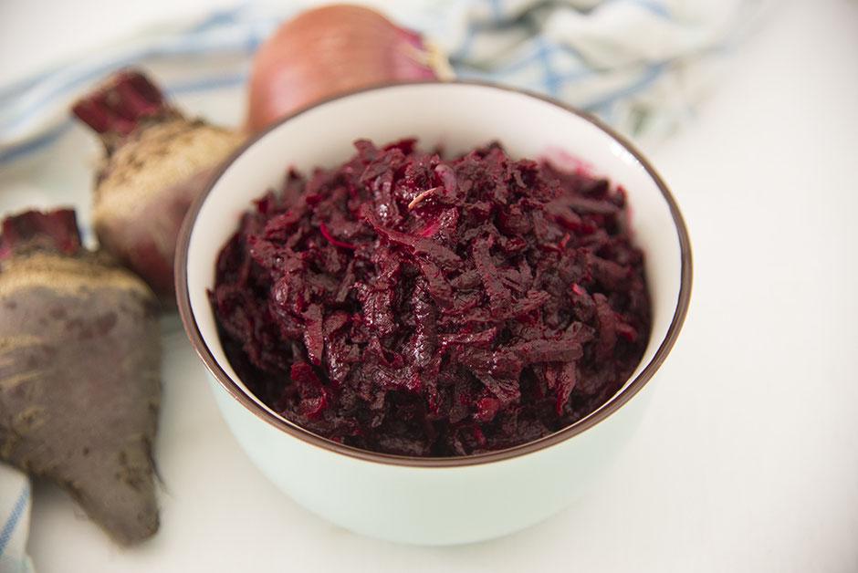 Polnischer Rote-Beete-Salat  , vegan