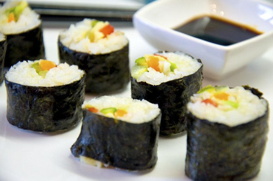 Vegane Sushi Maki Rollen