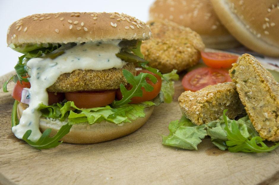 Veganer Fischburger