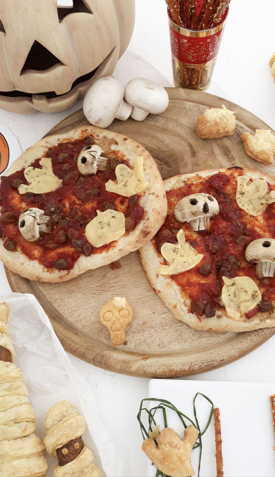 Halloween Pizza, vegan, Rezepte