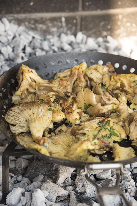 Marinierte Austernpilze für den Grill Veganer Grillteller Veganes BBQ