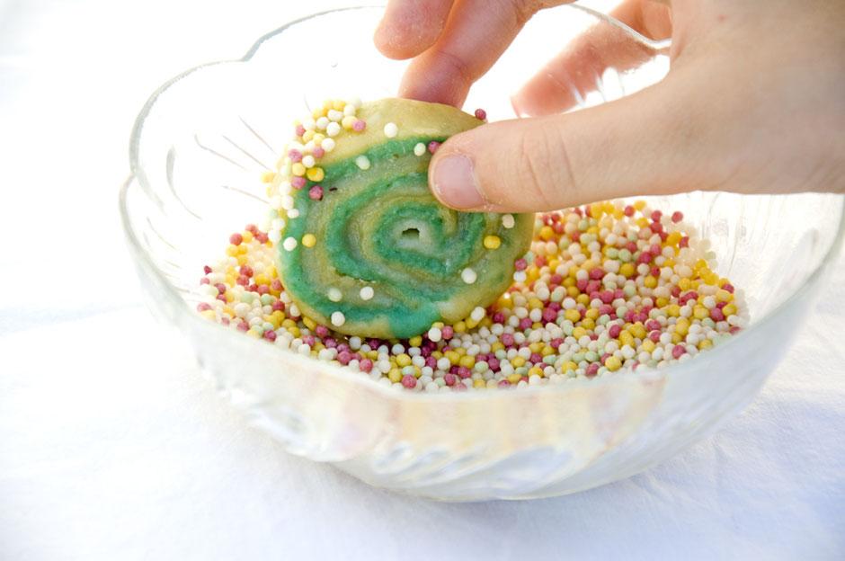 Vegane Spiralplätzchen mit Marzipan