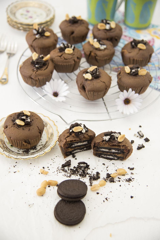 Erdnussbutter-Oreo Muffins vegan
