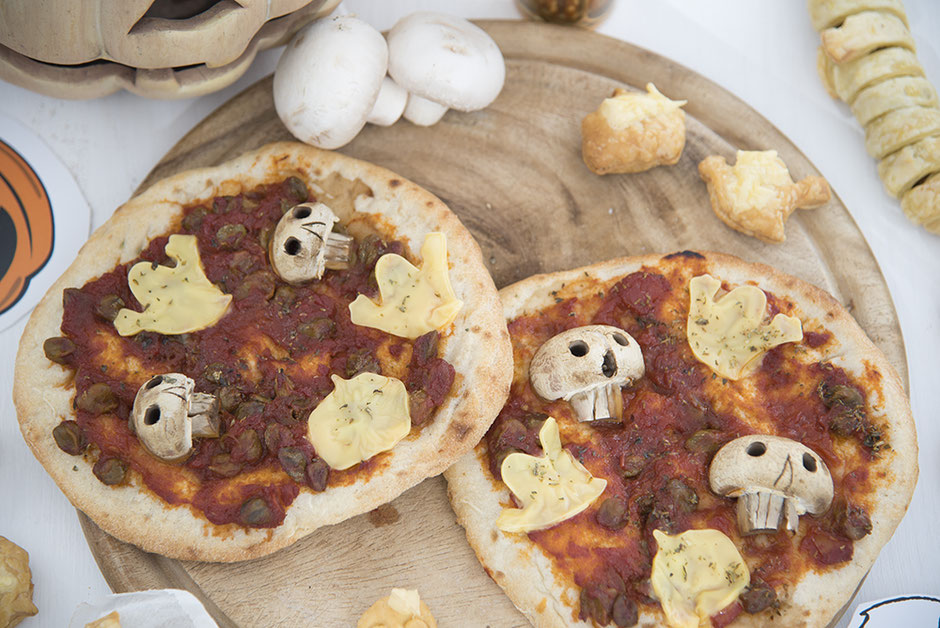 Halloween Pizza vegan