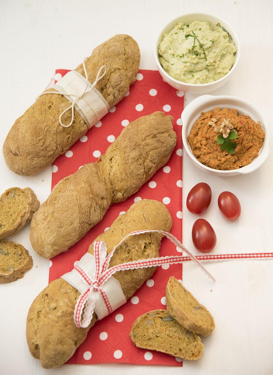 Karotten- Kürbiskern Baguette