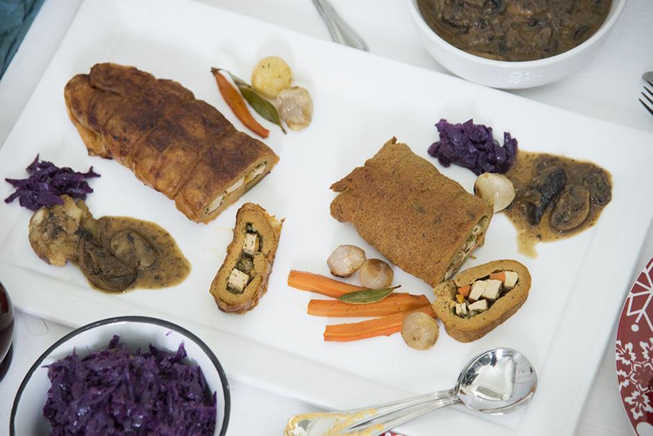 Veganer Krustenbraten Veganer Rollbraten
