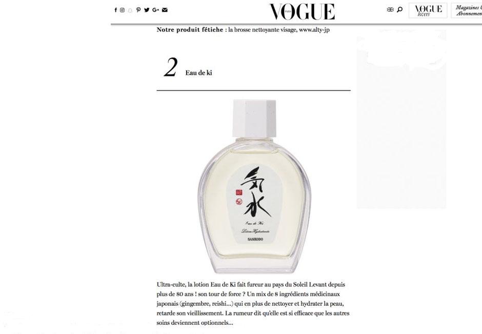 Eau de Ki su Vogue Francia