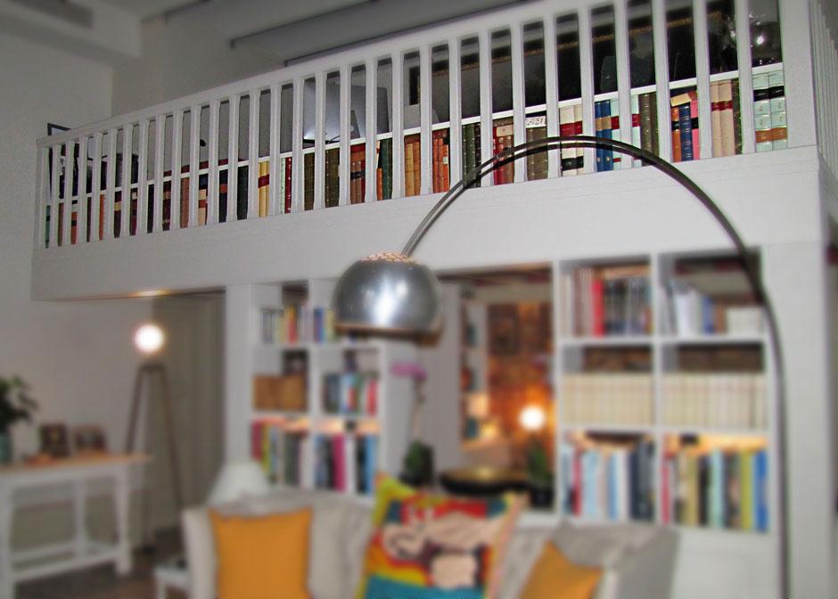 Private house faux book conti borbone