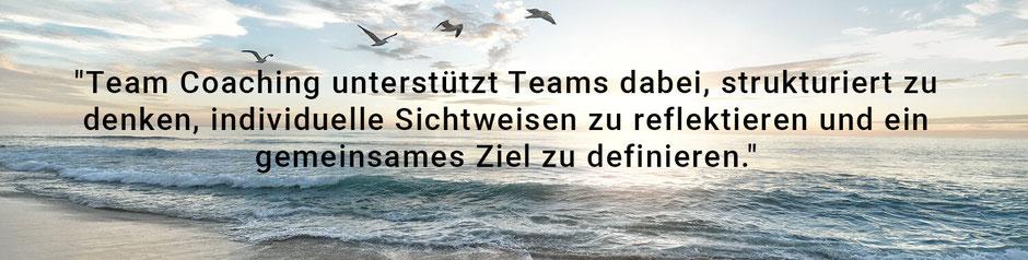 Team Coaching unterstützt Teams dabei, strukturiert zu denken, individuelle Sichtweisen zu reflektieren und ein gemeinsames Ziel zu definieren. www.coachmoeller.de