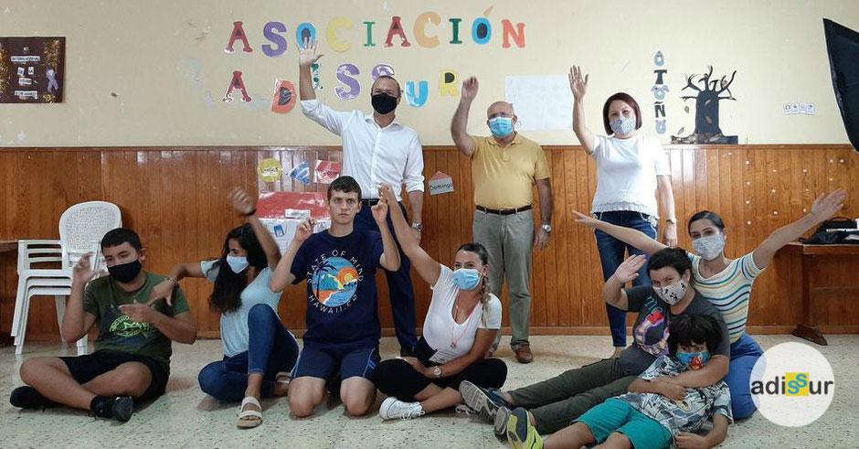 Adissur - Visita a nuestro centro del Alcalde de Las Palmas de Gran Canaria y la Concejala Delegada de Servicios Sociales