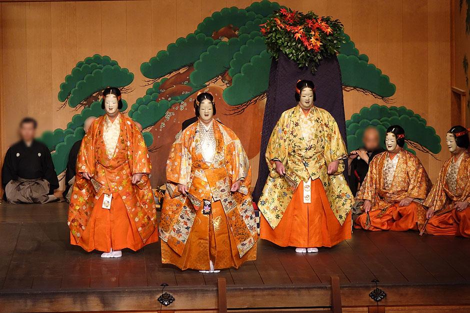 小姫 武田神社薪能第11回「紅葉狩」シテ 佐久間二郎師