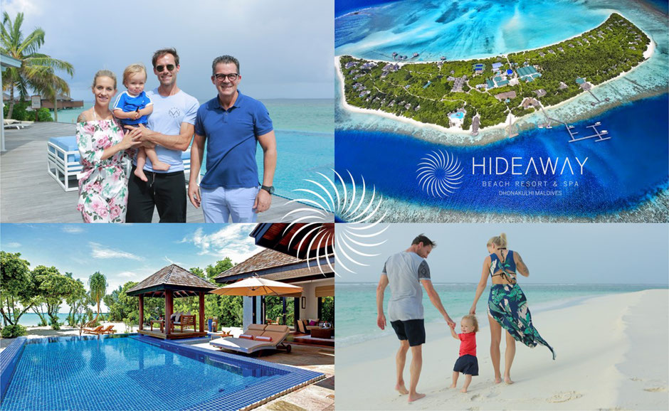 Campaign with Hannawald Family for Hideaway Beach Resort & Spa, Maldives