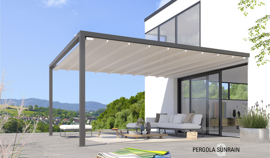 pergola sunrain q schattenbau. Black Bedroom Furniture Sets. Home Design Ideas