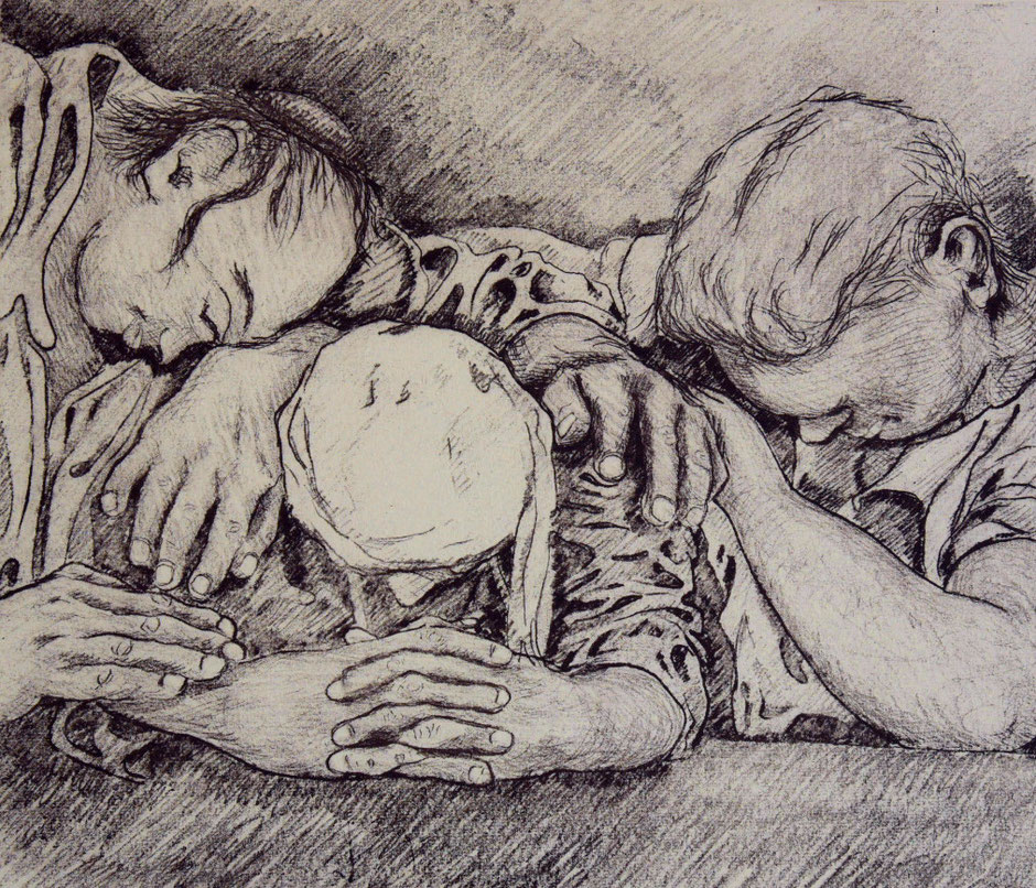 Vernis mou; etching