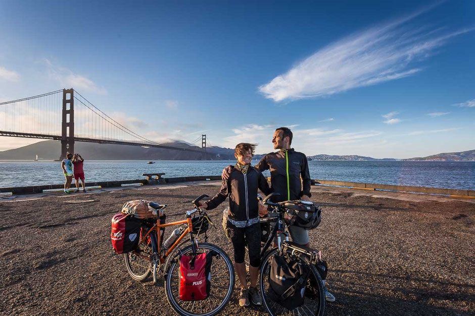 after a long bicycle trip from Halifax, Canada to San Francisco, USA we've finally reached our goal on the west coast