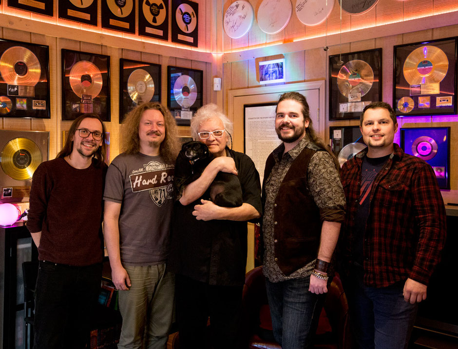 Ben Bateman Chuck Boom Michael Wagener dog Jack Power Phil rock group gold platinum records awards lounge studio wireworld happy ending
