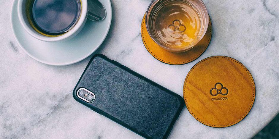 iPhone XS Hülle aus Leder von QUADOCTA