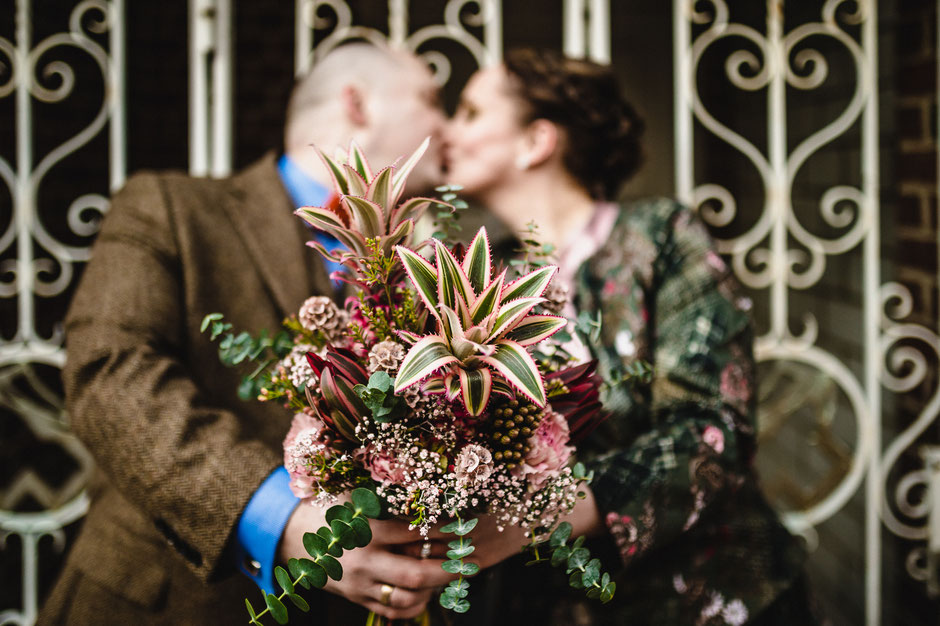 Diestel Brautstrauß, Hochzeit in Celle, Nicolas Wanek photography