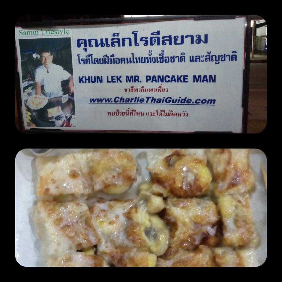 Koh Samui, Thailand, Pancake, Streetfood, Khun Lek Mr. Pancake Man, Zwei auf Achse, Thailand 2016, Backpacker