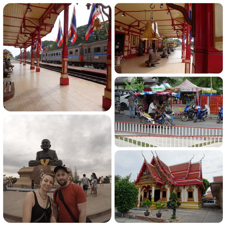 Hua Hin, Thailand, Bahnhof, Zugfahrt, Huay Mongkol Tempel, Thailand 2016, Zwei auf Achse, Backpacker