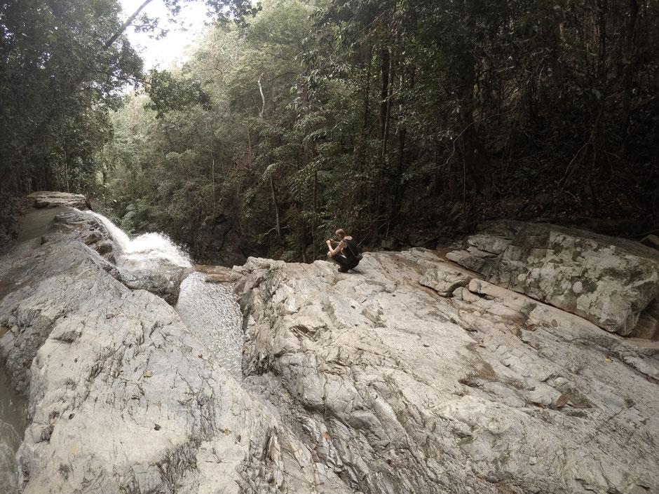Koh Samui, Thailand, Wasserfall, Khun Si Wasserfall, Zwei auf Achse, Thailand 2016, Backpacker