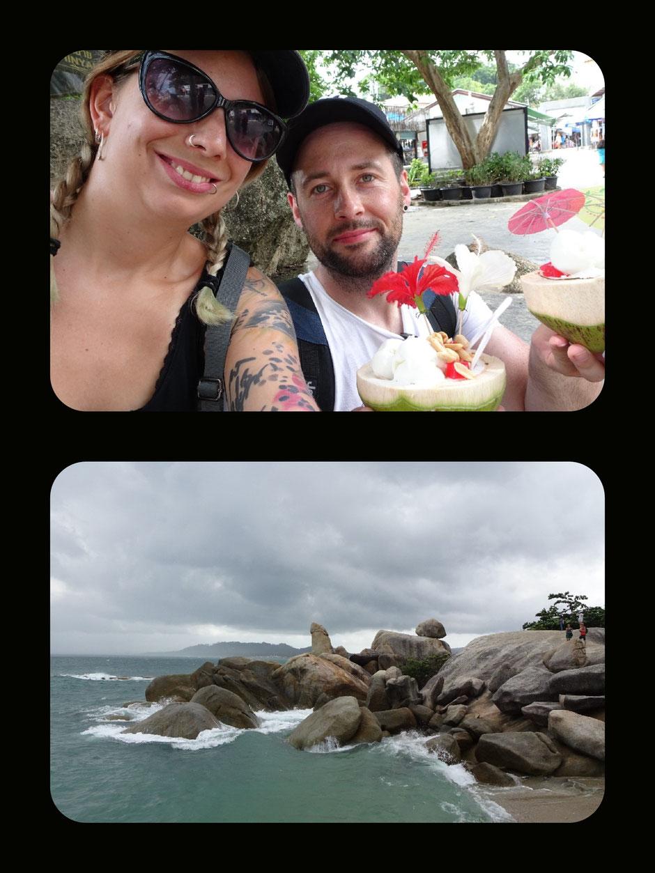 Koh Samui, Thailand, Insel, Hin Ta, Hin Yai, Felsen, Lamai Beach, Thailand 2016, Backpacker, Zwei auf Achse