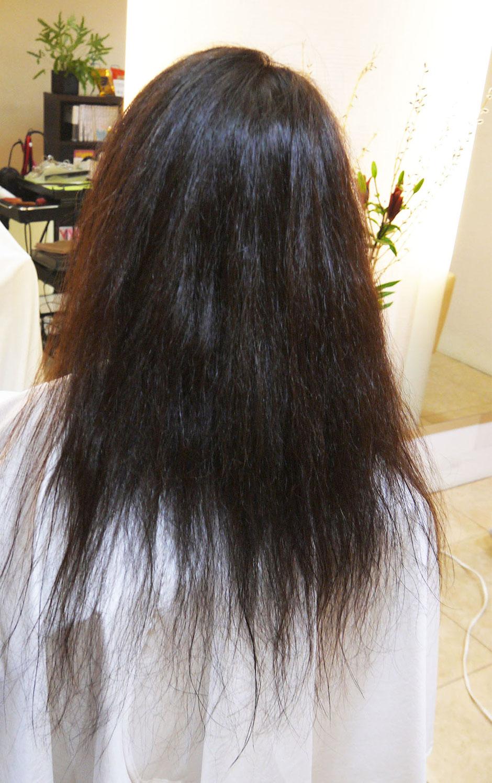 クセ毛、くせ毛、アホ毛 ストレートパーマ 縮毛矯正