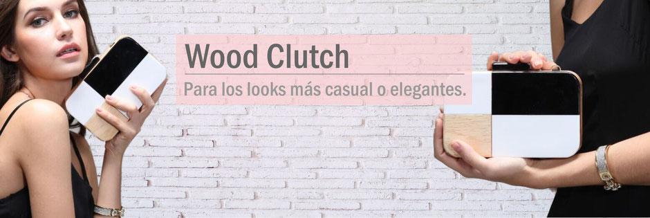 clutch de madera  bolsos de madera