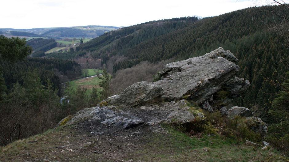 Photo du rocher de Falize