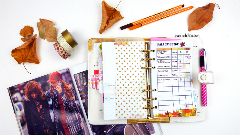 free personal planner printable fall tv show guide