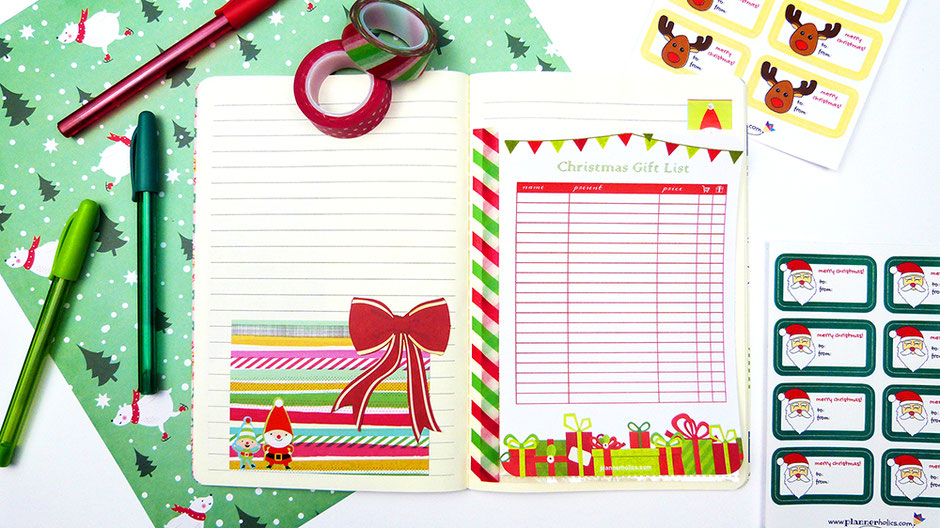 christmas gift list free printable