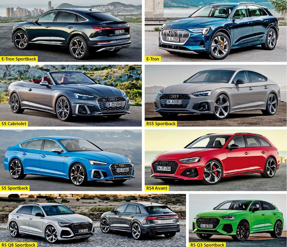 Garage Huber AG, Hombrechtikon - E-Tron Sportback • E-Tron • S5 Cabriolet • RS5 Sportback • S5 Sportback • RS4 Avant • RS Q8 Sportback • RS Q3 Sportback