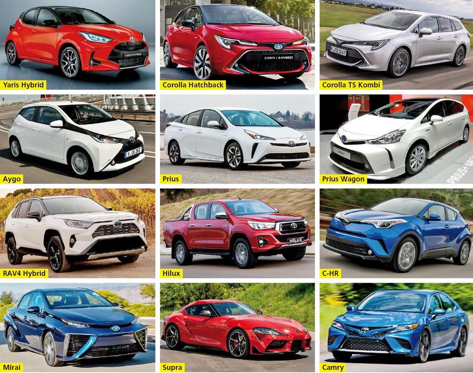 Garage Weber AG, Männedorf - Yaris Hybrid • Corolla Hatchback • Corolla TS Kombi • Aygo • Prius • Prius Wagon • RAV4 Hybrid • Hilux • C-HR • Mirai • Supra