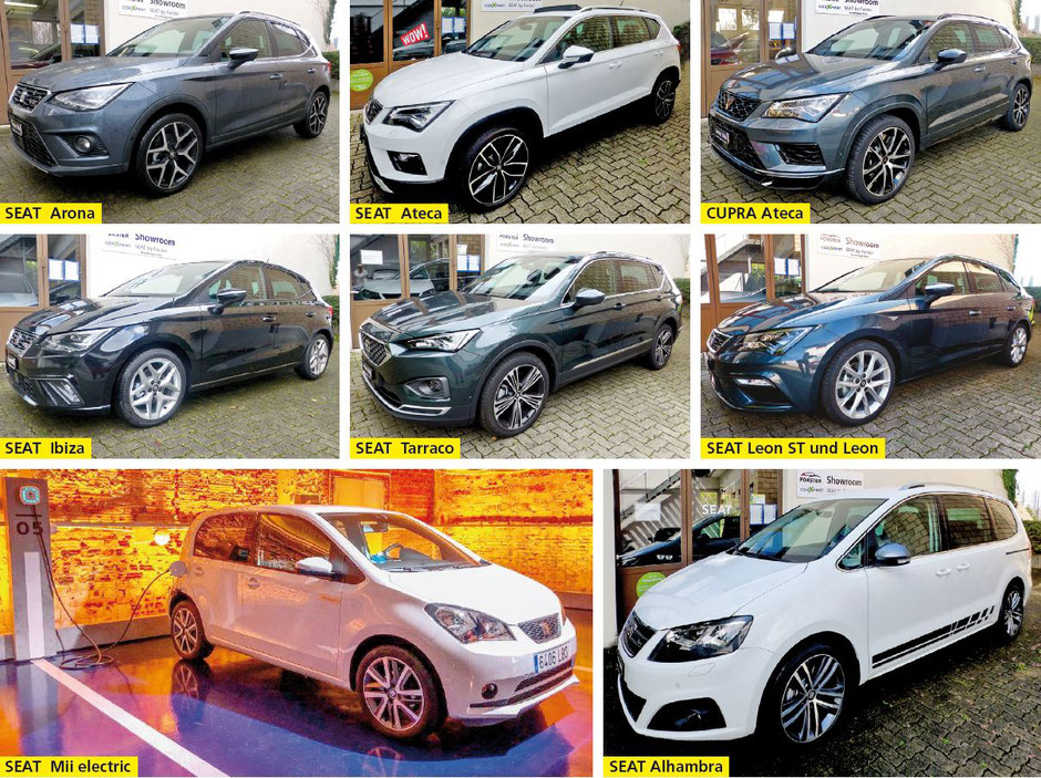 Forster Automobile – Carrosserie AG, Stäfa - SEAT Arona • SEAT Ateca • CUPRA Ateca • SEAT Ibiza • SEAT Tarraco • SEAT Leon ST und Leon • SEAT Mii electric • SEAT Alhambra
