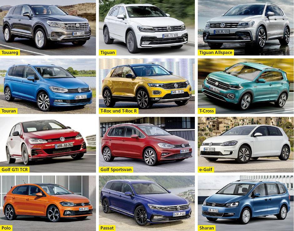 Aufdorf Garage AG, Männedorf - Touareg • Tiguan • Tiguan Allspace • Touran • T-Roc und T-Roc R • T-Cross • Golf GTI TCR • Golf Sportsvan • e-Golf • Polo • Passat • Sharan