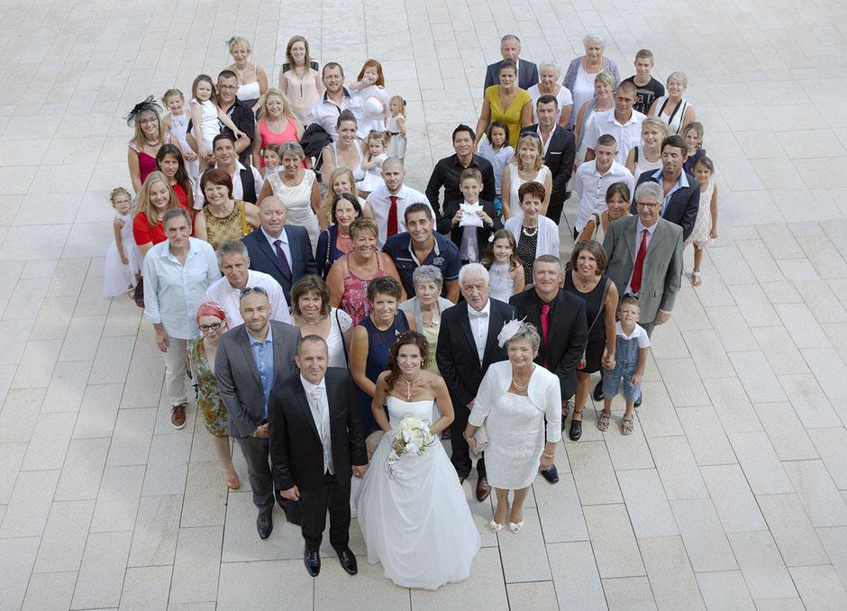 Mariage Photographie de groupes en forme de coeur