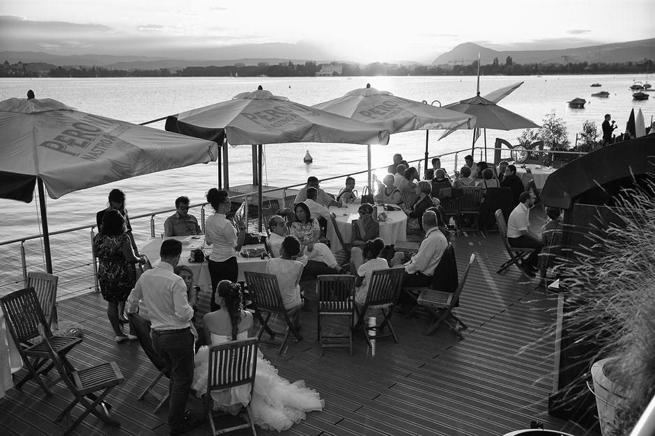 Vin d'Honneur des mariés au bord du Lac d'Annecy