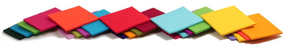 Farbauswahl Designfilze