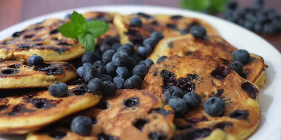 Keto Blaubeer Pancake