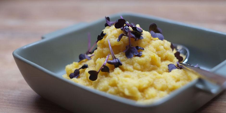 Kerstins Keto, Steckrüben-Parmesan Stampf aus der Keto Küche