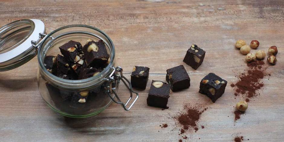 Kerstins Keto, ketogene Schokoladen Brownie Praliné Sünde
