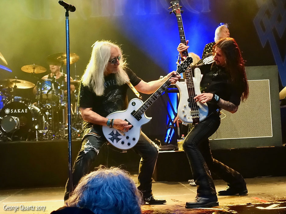 "Mick Box and Davey Rimmer Uriah Heep 2017 live on stage at ""Schloss Salder"""