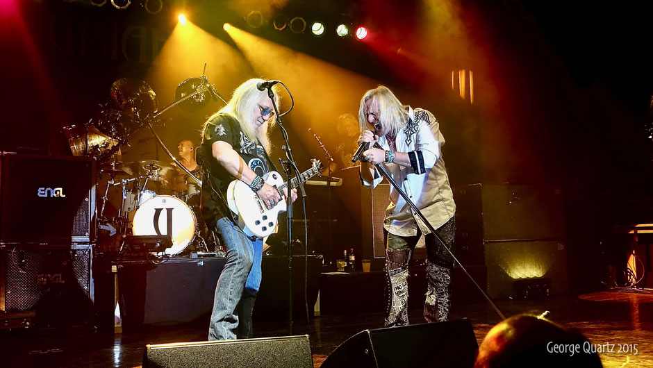 "Uriah Heep's ""Rock the House Tour"", Mick Box and Bernie Shaw"