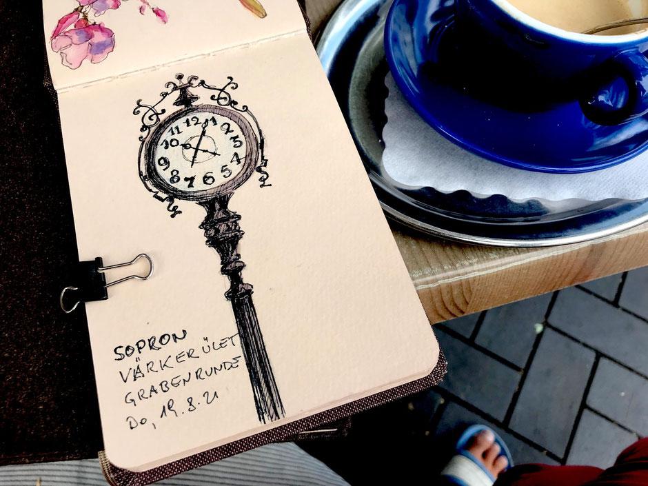 Birgit Lippeck Uhr in Sopron